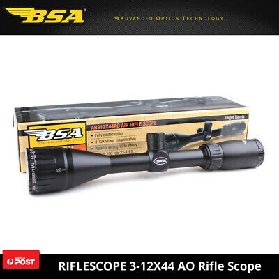 Tactical BSA Essential AR 3-12X44 AO Mil-dot Rifle Scopes Hunting Shooting Scope