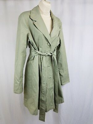 Liz Lange Maternity for Target Trench Coat Light Green Jacket Fully Lined Large
