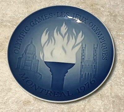 1976 Montreal Olympic Game Plate  (Bing and Grondahl, Royal Copenhagen