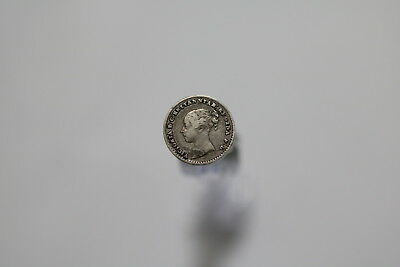 Uk Gb Penny 1859 Silver Nice Details A77 #8034