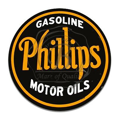 Vintage Design Sign Metal Decor Gas and Oil Sign - Phillips Gasoline Motor Oils