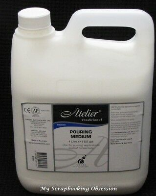Atelier Traditional POURING MEDIUM 4L Painting/Craft Pouring Puddles