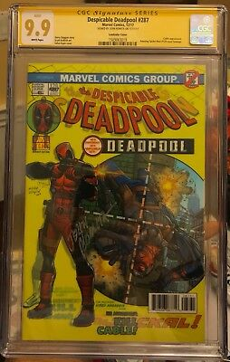 Despicable Deadpool #287 Cgc 9.9 Lenticular Cover Amazing #129 Cover Homage