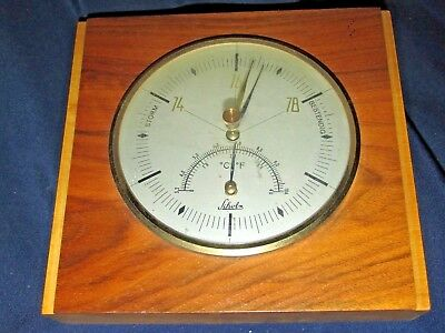 Antique BAROMETER Schobs ? Made in Germany Wood Surround 14CmT