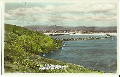 Postcard - Coffs Harbour Township from Mutton Bird Island, NSW, Australia - 1955