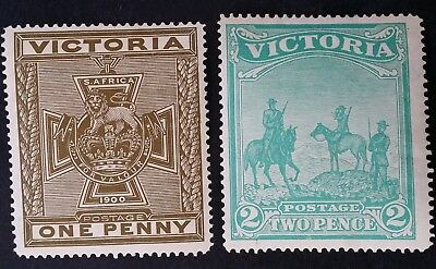Rare 1900- Victoria Australia set of Anglo Boer War Patriotic Fund Stamps Mint