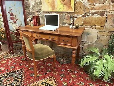 Stunning Antique Style Home Office Desk~Drawers~Table~ Carved Timber