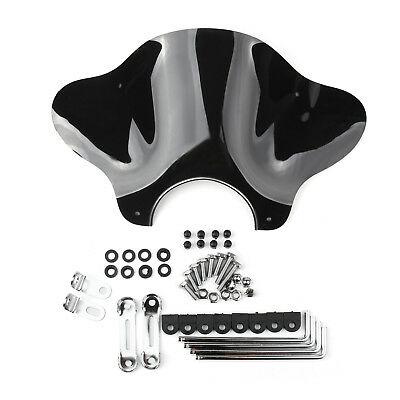 Universal Motorcycle Cruiser Windshield Windscreen with Mounting kit Smoke AU
