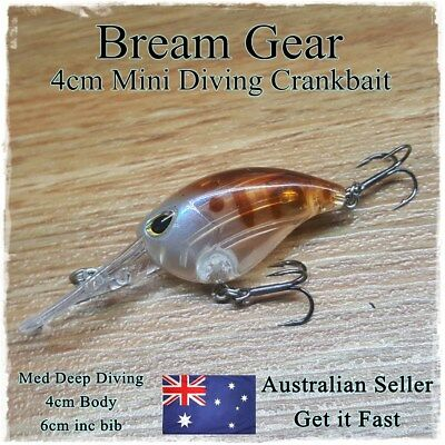 Bream & Whiting Fishing Lures Redfin, Trout, Flathead, Perch, Bass, Diving 4cm