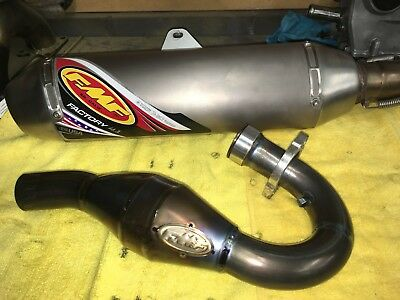 FMF TITANIUM MEGABOMB AND FACTORY 4.1 FULL SYSTEM EXHAUST 04-08 YFZ450 Carb