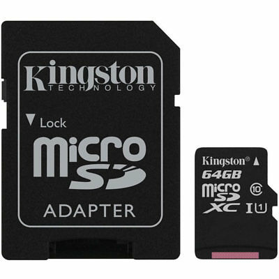 Kingston 64GB Canvas Select micro SDXC TF Memory Card SD Adapter 80MB/s New UK