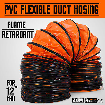 """25FT PVC Flexible Duct Hosing for 12"""" Exhaust Fan Industrial And Gardening"""