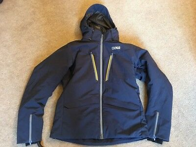 COLMAR MENS EVOLUTION SCHUSS SKI JACKET SNOWBOARD COAT NAVY MEDIUM 50cm RRP £500