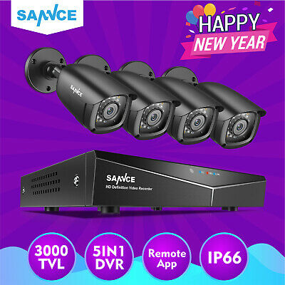 SANNCE 8CH 1080N DVR 720P CCTV IR Home Surveillance Security Camera System Night