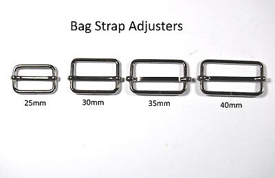 Metal Bag Strap Adjusters - Sliding Metal Adjusters - Bag/Purse/Jewellery Making