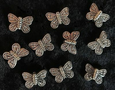 Metal Spacers - Butterflies - Silver - 20 Pieces - New