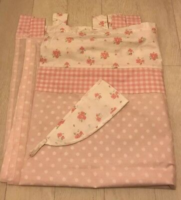 mothercare  Daisy lane  curtains with tie backs / vintage / shabby chic