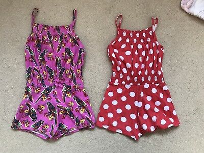 Girls Summer Holiday Playsuits Age 2-3 New Primark Twins ?