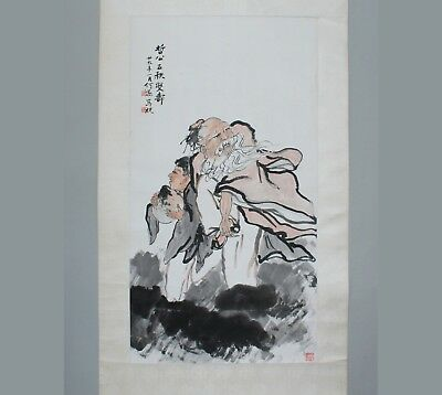 Early 20th Century Chinese Scroll Painting on Paper
