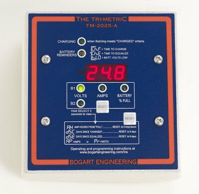 TM-2030-A | Bogart Trimetric Battery System Monitor - Includes Shunt