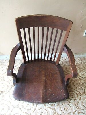 Antique Irish legless low wooden chair