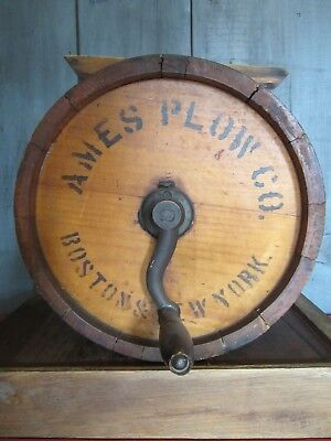 Antique No. 0 Improved Ames Plow Company Butter Churn Wood  Boston New York