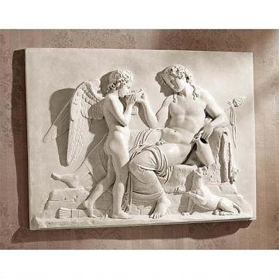 Ancient Greek Gods Eros and Dionysus High Relief Frieze Resin Wall Sculpture