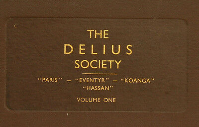 "LONDON PHILH. & BEECHAM ""The Delius Society"": Paris / Eventyr / Koanga ... A213"
