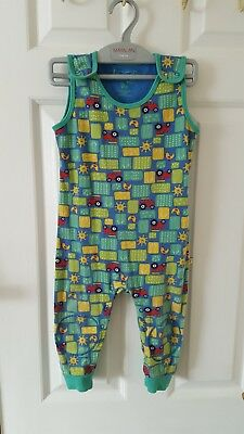 Frugi Farm Days Kneepatch Dungarees 18-24m