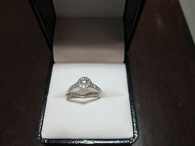 Diamond Engagement & Wedding Ring Set - White Gold - Never Worn