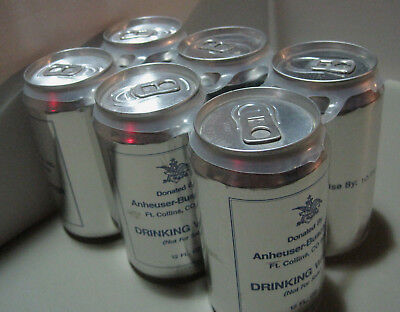Anheuser-Busch Disaster Relief Drinking Water Six Pack Ft. Collins, Co. Unopened