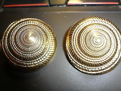 Vintage Authenic Yves St. Laurant Rive Gauche Clip On Earrings From France