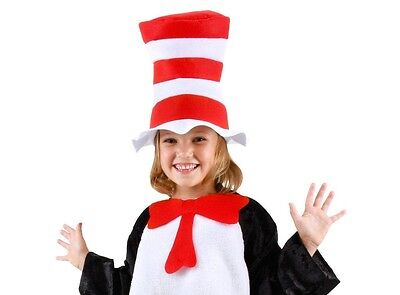 Dr. Seuss CAT IN THE HAT, CHILD HAT + BOW TIE Fast FREE Shipping! Suess Sues Kid