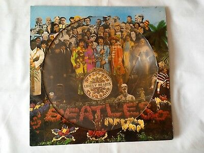 The Beatles Sgt Peppers Lonely Heart EX Picture Disc Vinyl Record 1979 PHO 7027