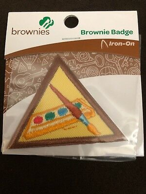Girl Scouts, Iron On, Brownies, Painting, Badge, Try It, New, 61206
