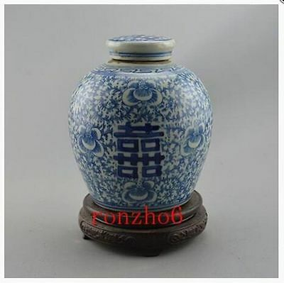 Chinese Blue and white porcelain Handmade Antique ornaments Jar Decoration