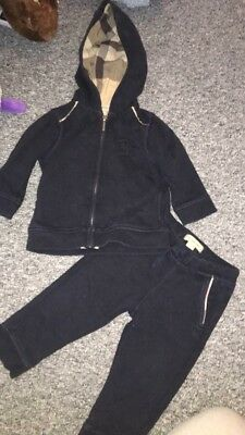 Burberry Boys Navy Tracksuit 18m 18 Months