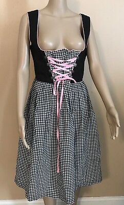 Authentic Dirndl Octoberfest Dress Costume Womens 6 8 US 36 Euro