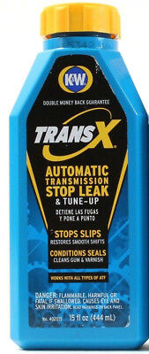 1 K & W Trans X Automatic Transmission Stop Leak & Tune Up Stops Slips 15 Oz Ea