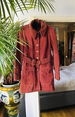 Original BIBA vintage 60s coat, pink corduroy. As in the iconic 1968 catalogue.