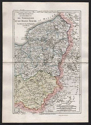 1790 Frankreich: Districts de Normandie et du Maine Perche, by R. Bonne (A)