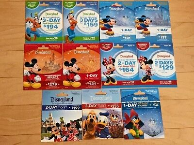 Disneyland Micky Minnie Disney Gift Cards - NO Value Collectible MINT 11 Total