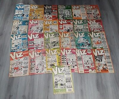 Rare Large Viz Adult Comic collection job lot rare 25 early issues from 22 to 59