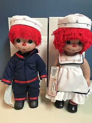 "Raggedy Ann And Andy Sail Away With Me Precious Moments Dolls 2012 ""12"