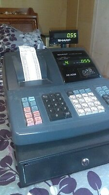 Sharp XE-A206 Electronic Cash Register w/ Keys