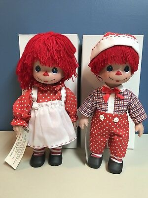 """Raggedy Ann And Andy Pretty In Polka Dots Precious Moments 2013 12"""""""