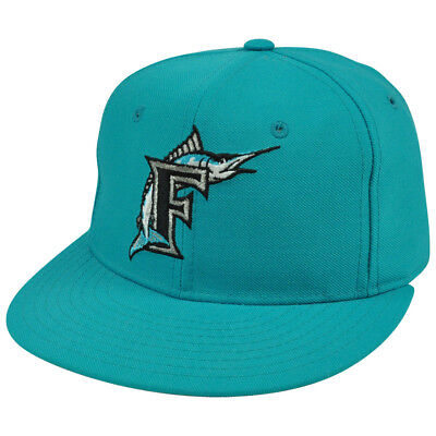 new style 191d6 74eed New Era 59Fifty MLB Florida Miami Marlins Vintage Fitted Hat Cap Youth 6 7 8