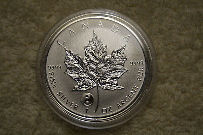2016 Canada 1 oz Silver Reverse Proof Maple Leaf Yin Yang Privy BU In Capsule