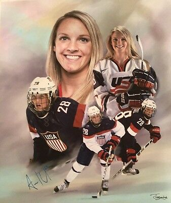 AMANDA KESSEL SIGNED 20x24 Canvas Autograph USA Hockey Minnesota ...