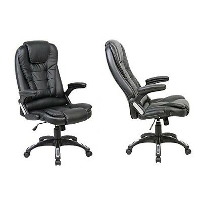 (Recliner - Black) - Neo® Executive Leather Gaming Computer Desk Office Swivel